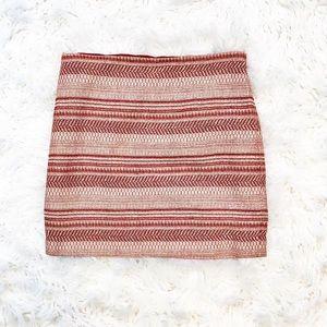 Banana Republic textured stripe min skirt